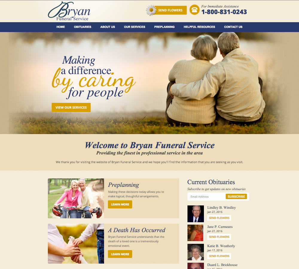 funeral home website design directors advantage. Black Bedroom Furniture Sets. Home Design Ideas