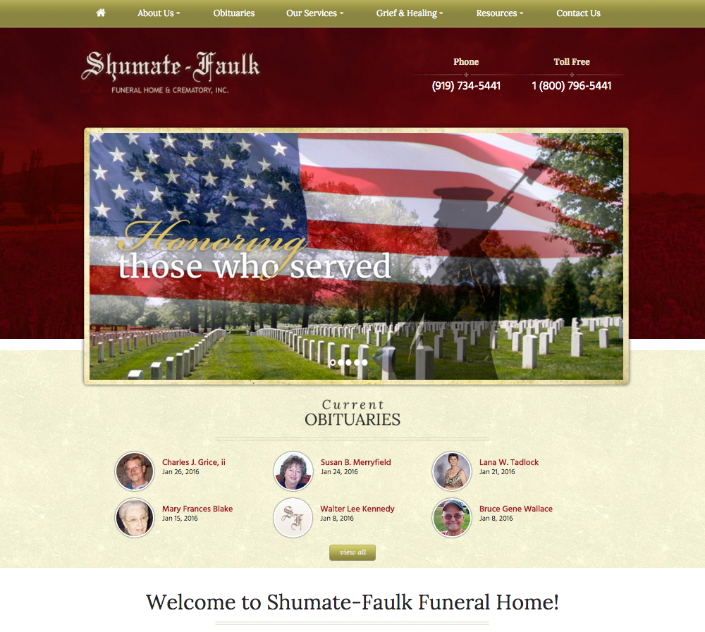 Funeral home website design directors advantage - Funeral home web design ...