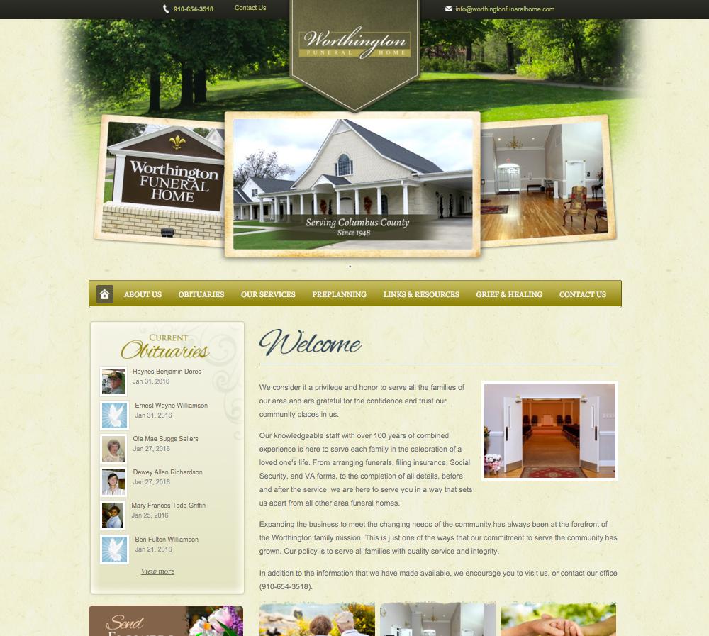 Funeral home website design | Directors Advantage