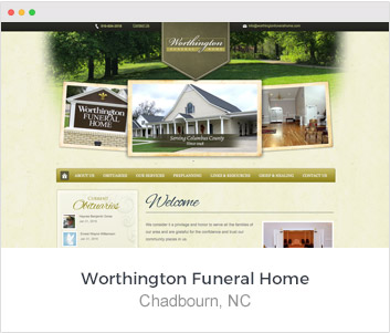 Our Most Recent Funeral Websites